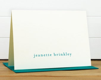 Personalized Stationery Set / Personalized Stationary Set - LOWERCASE Custom Personalized Note Card Set - Modern Business