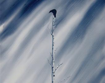 A Singular Crow FINE ART reproduction PRINT