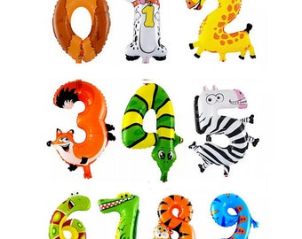 Number Balloon, Birthday Party Balloon for 1-9 Year Old, Balloon Animal Balloon Animal 1-9 Balloon Number Balloon Birthday Party