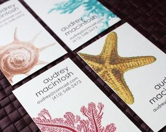 Nautical Calling Cards - 5 Designs - set of 100