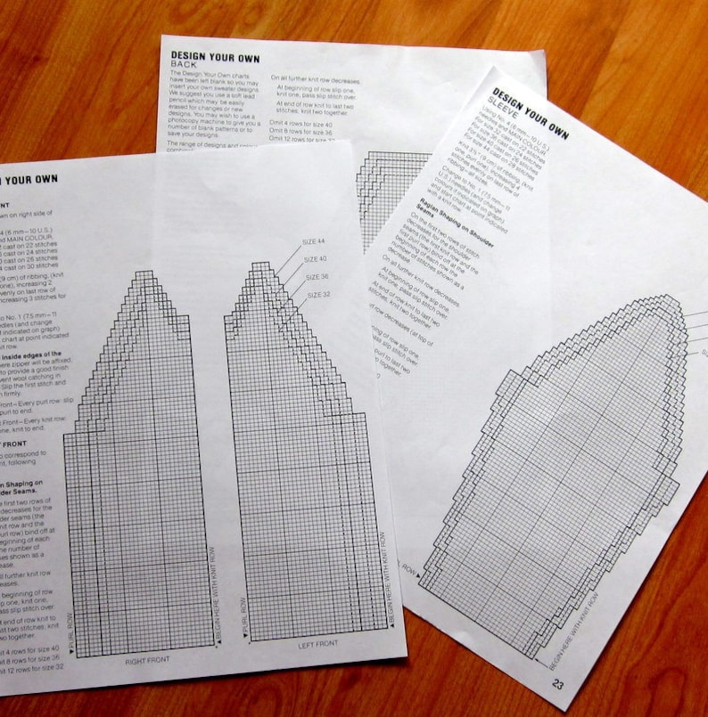 Design Your Own Cowichan Sweater Knitting Templates And Etsy
