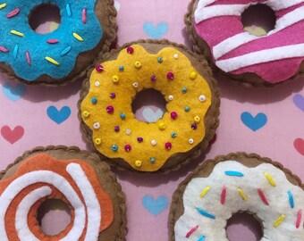Stuffed Felt Donut - Pretend Play! Play Food