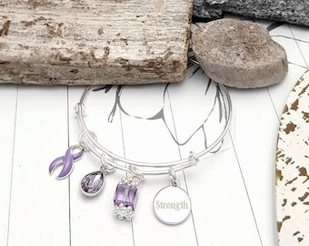 LP-1 Eating Disorder Awareness Epilepsy Jewelry Sentimental Jewelry Gift For Her Stomach Cancer Esophageal Cancer Stackable Bracelet