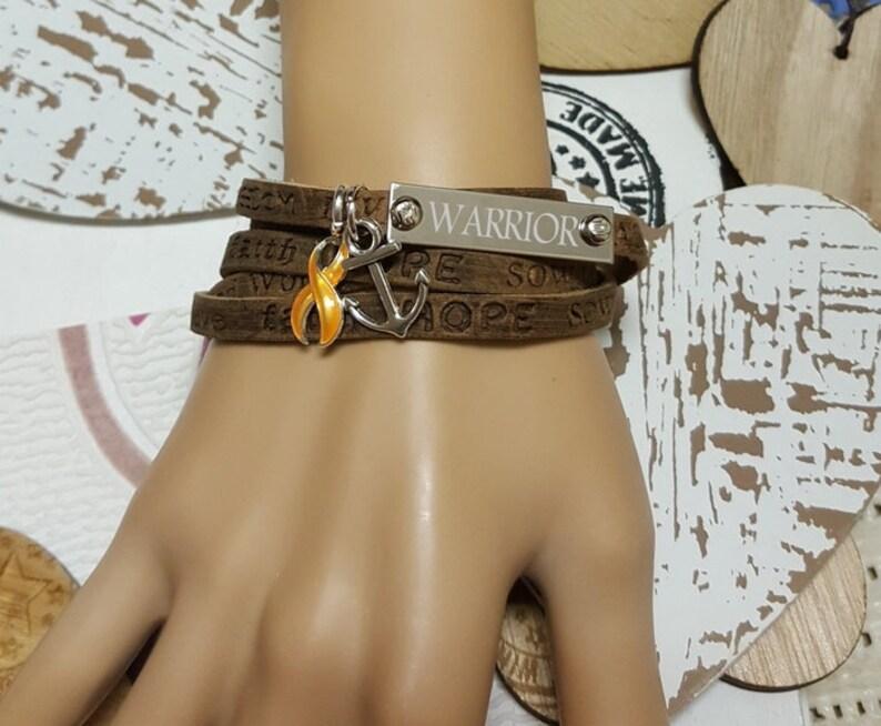 GO-1 Appendix Cancer Bracelet Childhood Cancer Jewelry Boho image 0