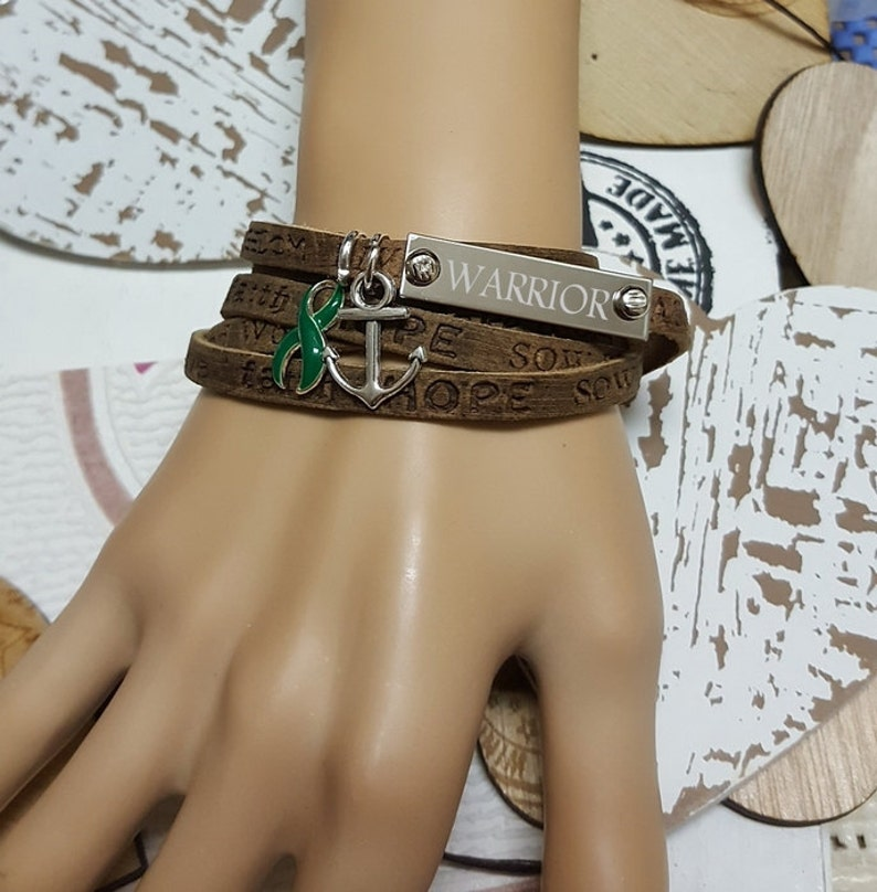 DG-1 Kidney Donor Boho Wrap Bracelet For Women Kidney Disease image 0