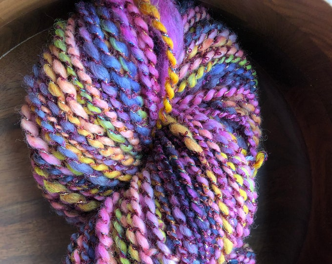Handspun Falkland Art Yarn for Knitting Crochet Weaving Fiber Arts Doll Hair