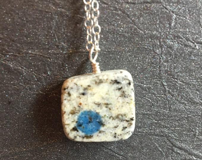 Simple K2 Stone Necklace Sterling Silver Rare OOAK unique Gift Talisman