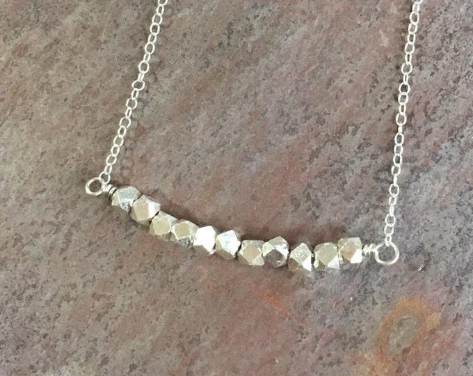 Thai Silver Bar Necklace