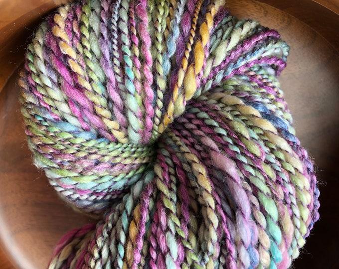 Handspun Merino Art Yarn in Pastel Shades Knitting Crochet Weaving