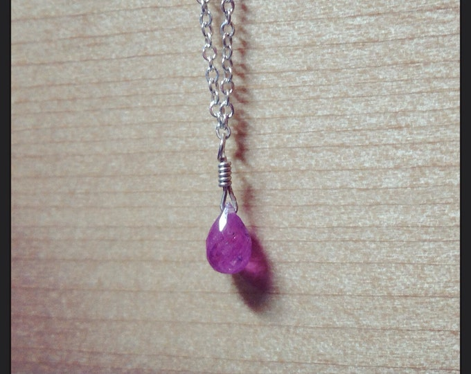 Your choice colored sapphire necklace