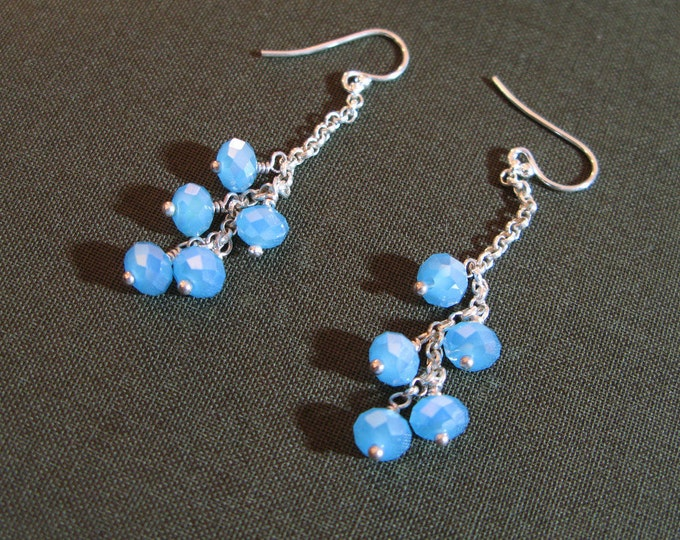 Icy Blue Crystal Earrings