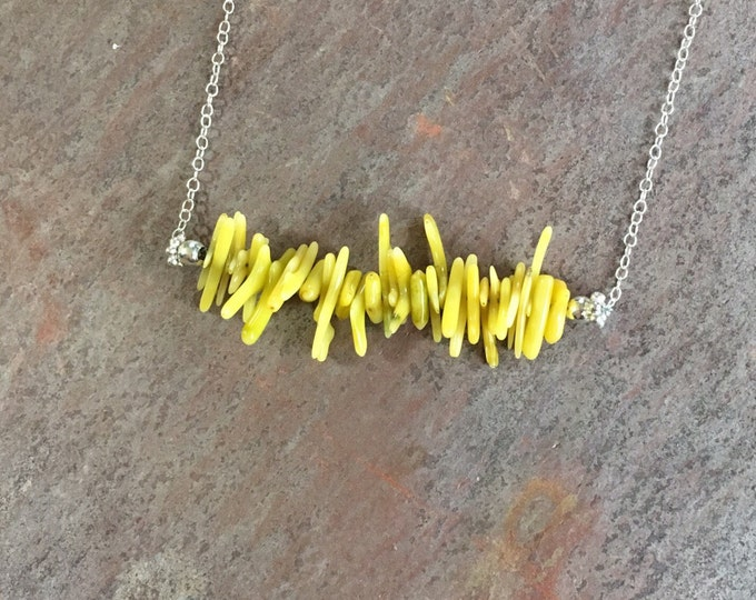 Funky yellow Coral Necklace