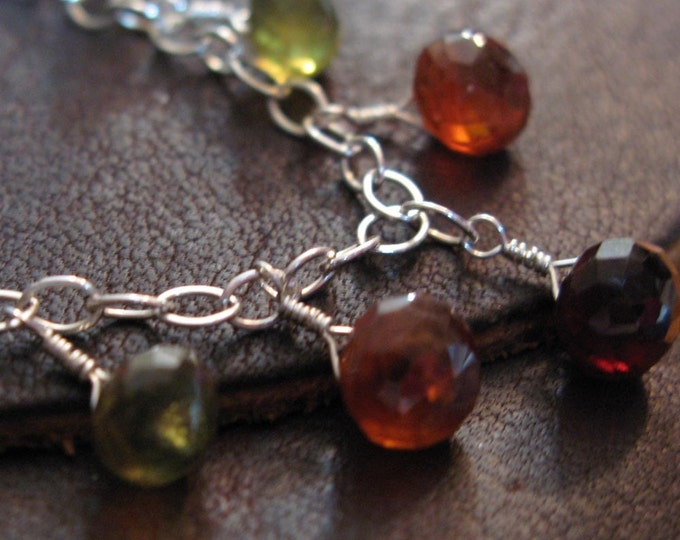 Handmade Hessonite Gemstone Necklace