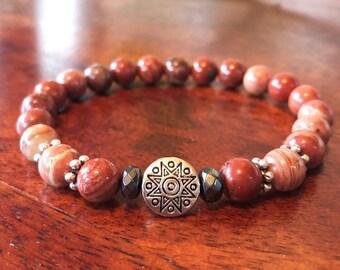 Red Jasper Grounding Bracelet
