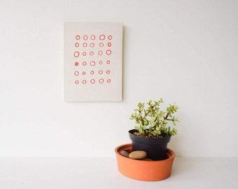 *nice* Orig Vtg European Art Lady W Flower Basket Ceramic /porcelain Print Tile Tiles