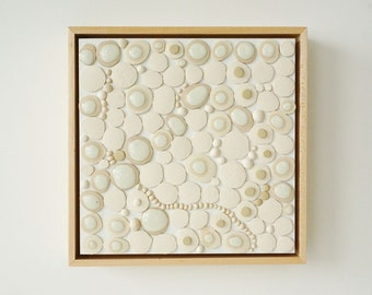 NATURE OF THINGS Ceramic wall art by artist Tina Schowalter organic wall decor minimalist ceramics and pottery sculpture biology cosmic art