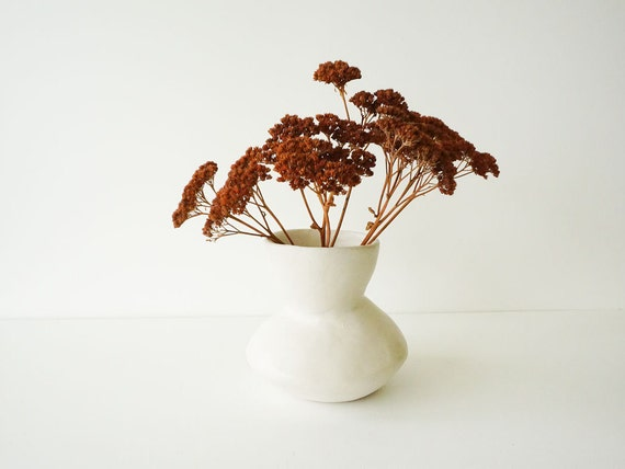 Ceramic Vase For Centerpieces Hand Built Pottery Vase By Tina Etsy