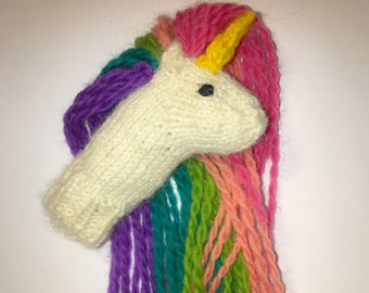 Unicorn Finger Puppet Pattern, Knitting, PDF