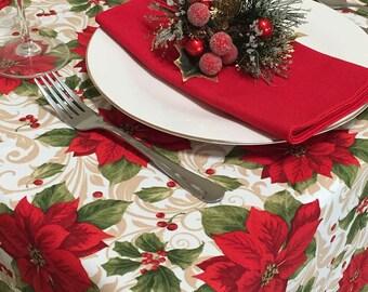 Christmas Tablecloths Etsy