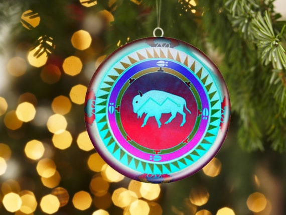 Native American Christmas Ornaments.Native American Christmas Tree Ornament Unbreakable Spirit Animal Decor 2 25 Inch Metal Ornament Power Animal