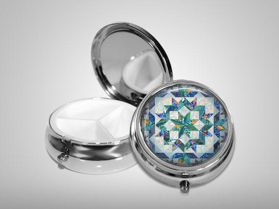 Quilt Pill Box, cadeau de quilteuses, les autres Options disponibles, Stash cas pilule boîte, cas de menthe,