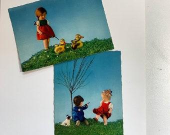 Interesting Vintage Doll Scene Postcards from Germany