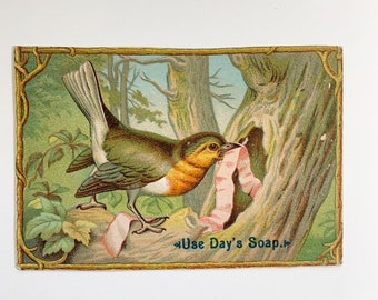 Pretty Robin Vintage Advertising Scrap - over 100 years old