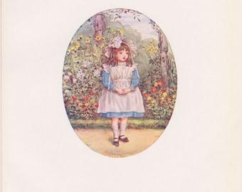 Vintage Kate Greenaway Book Plate Art Print - Joan Ponsonby 1901