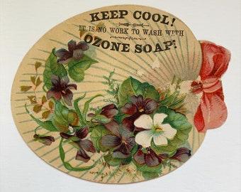 Vintage Soap Trade Card -Palette Die Cut