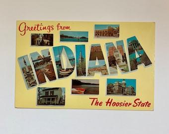 Vintage Greetings from Indiana Postcard Unused