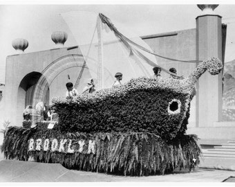 Vintage Photograph of Brooklyn Float in Parade circa 1920s