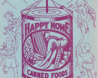 Happy Home - Canned Goods Advertisement with May 1937 Calendar from Seattle Grocery