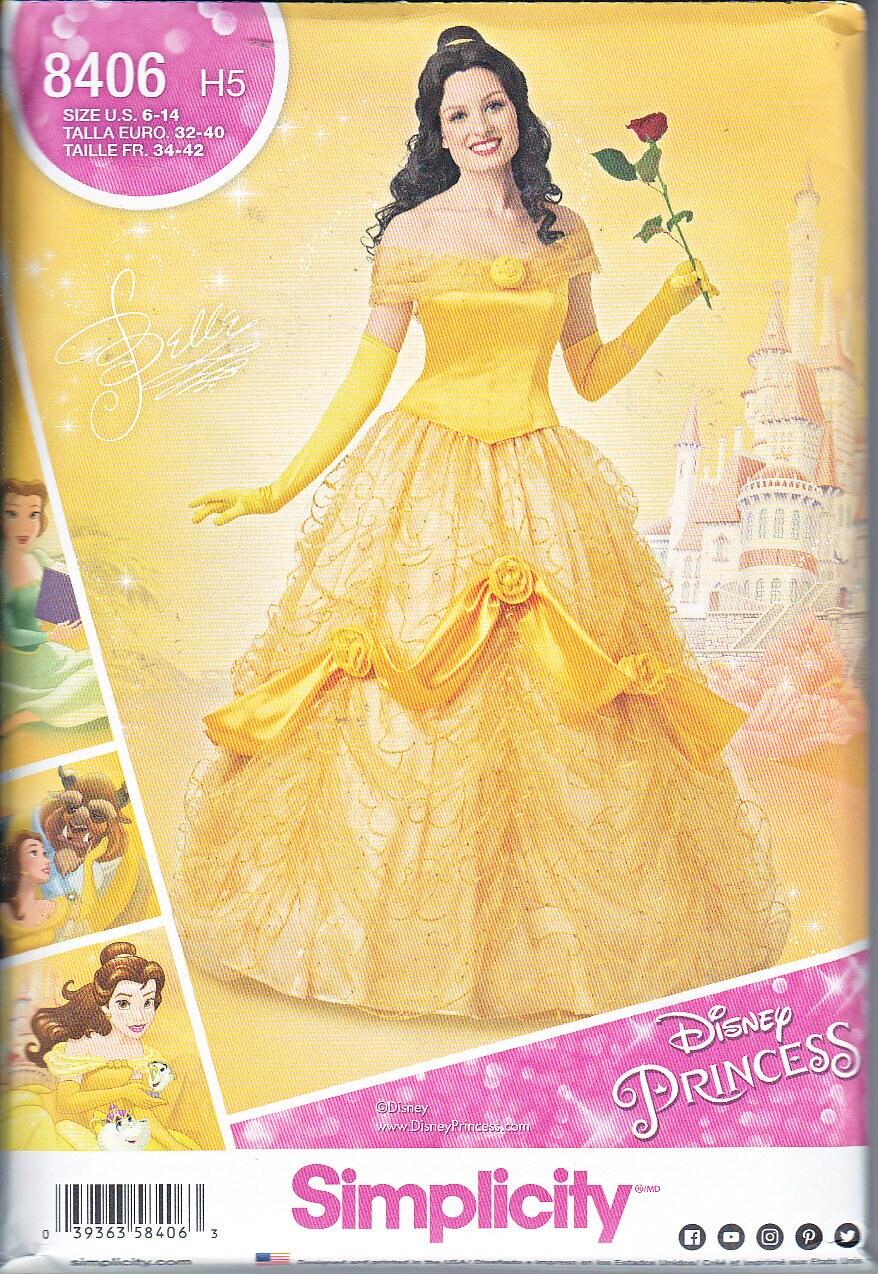 Einfachheit 8406 Misses Disney Schönheit und das Tier Kostüm