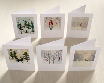 Set of Cards - Winter Worlds - 6 blank cards with envelopes
