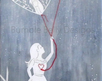 Print - Limited Edition - The Heart Outside Yourself - mixed media, encaustic