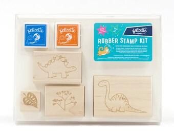 Dinosaur Rubber Stamp Kit