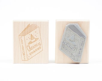 """Spell Book """"Charms"""" Rubber Stamp"""