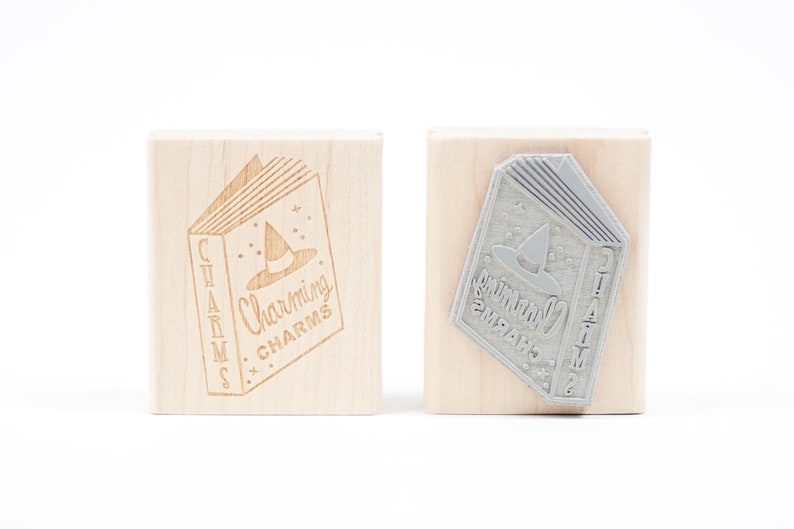 Spell Book Charms Rubber Stamp image 0