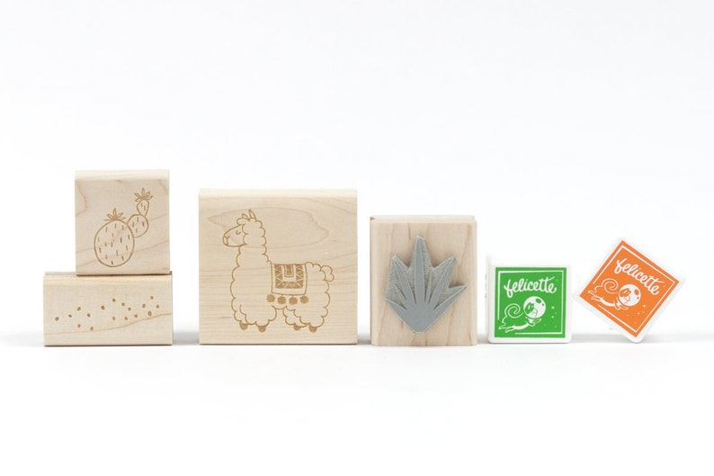 Alpaca Rubber Stamp Kit image 0