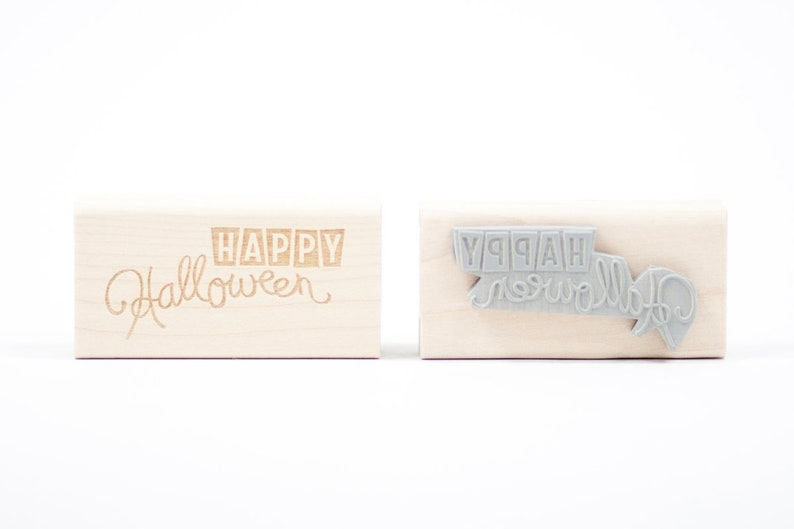 Happy Halloween Rubber Stamp image 0