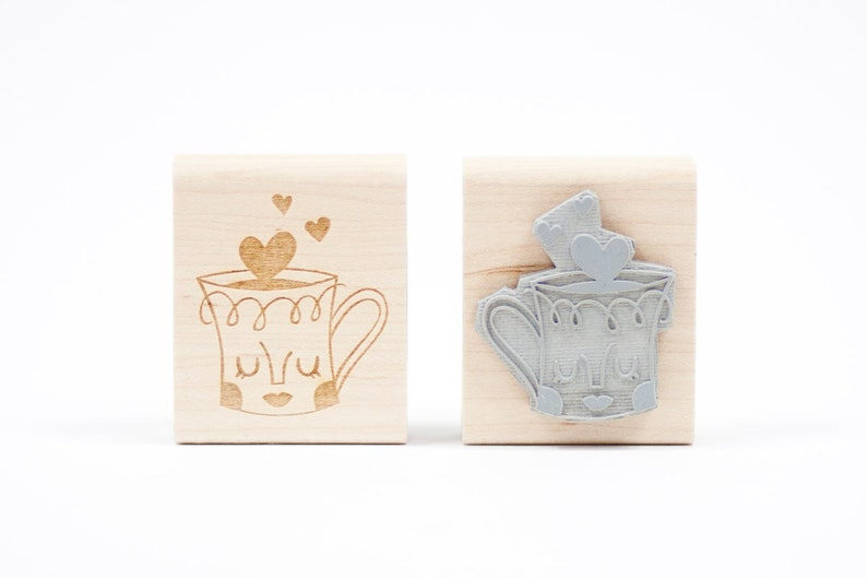 Love Mug Rubber Stamp image 0