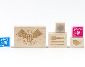 Patriotic Eagle USA Rubber Stamp Craft Kit