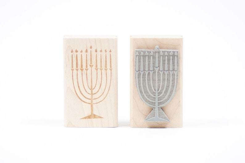 Menorah Rubber Stamp image 0