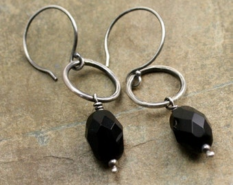 Vickie Earrings in Glass and Sterling Silver