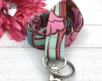 Floral Lanyard for Keys and ID Badge
