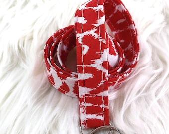 Red Leopard Print Lanyard
