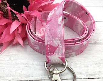 Pink Flamingo Lanyard For Women