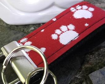Mini Keyfob FOB Keychain for Women Ideal as a Purse Keychain or Backpack Keychain, Paws