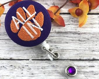 Clemson | Badge Reel | Approved Crafter License Holder | Badge Holder | Nurse Badge Reel | Medical Student Gift