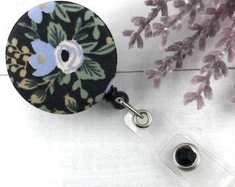 Rifle Paper Co Rosa Badge Reel | Nurse Badge Reel | ID Holder | Retractable Badge Holder | Badge Reels | RN Badge Reel